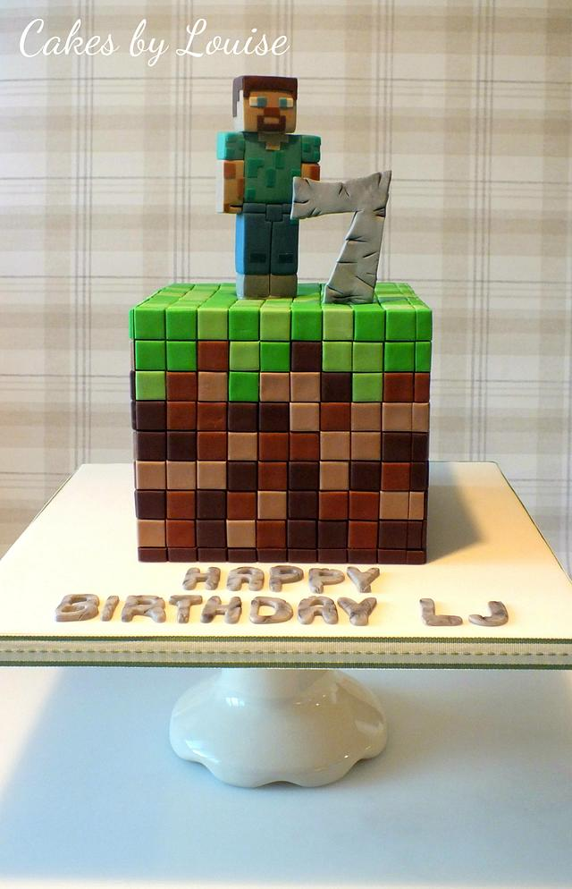 Miraculous Minecraft Cake With Steve Cake By Louise Jackson Cake Cakesdecor Funny Birthday Cards Online Eattedamsfinfo