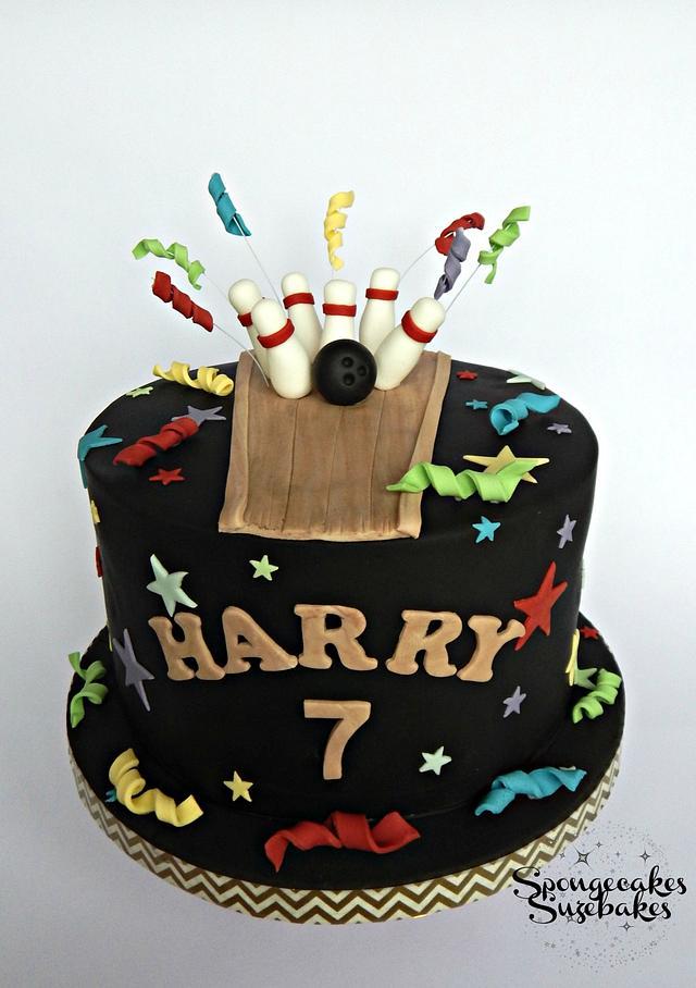 Bowling Theme Birthday Cake