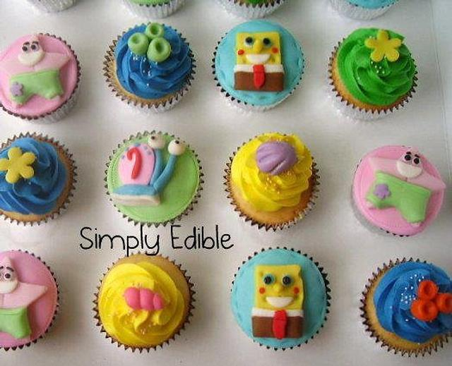 Spong Bob Square Pants Cupcakes