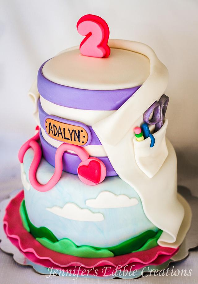Prime Doc Mcstuffins Birthday Cake Cake By Jennifers Edible Cakesdecor Birthday Cards Printable Nowaargucafe Filternl