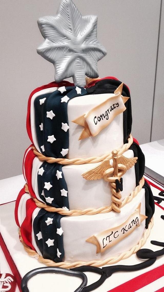 Army Promotion Cake - Patriotic