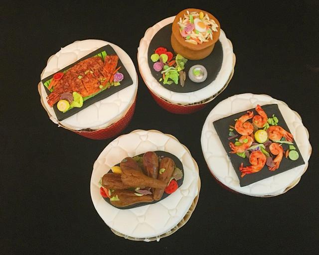 Food theme Miniatures cupcakes