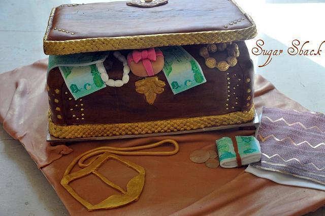 treasure box cake