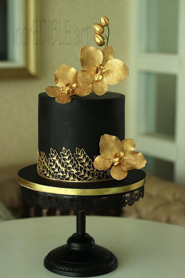 Regal 50th Birthday   Cake by Rumana Jaseel   CakesDecor