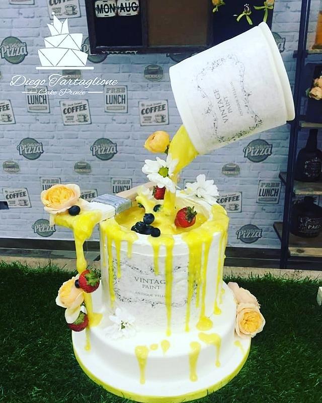 Drip gravity cake