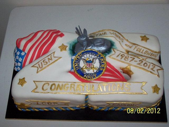 Navy Submarine Retirement Cake