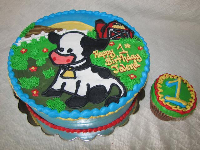 1st Birthday Cow