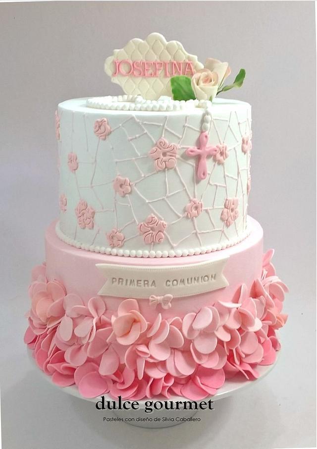 Communion cake for Josefina