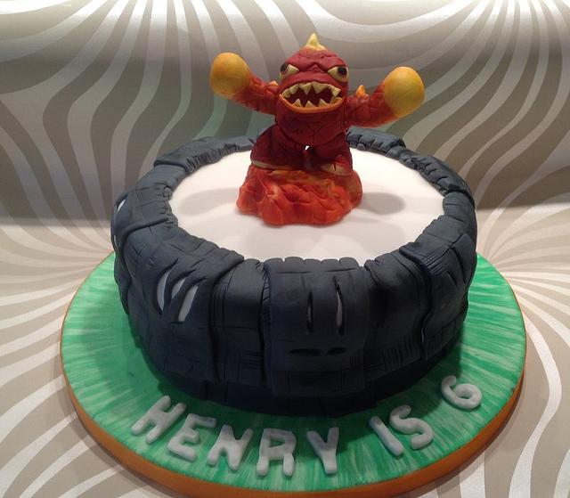 Outstanding Skylanders Eruptor Portal Of Power Birthday Cake With Cakesdecor Personalised Birthday Cards Veneteletsinfo