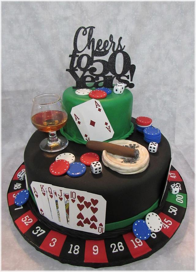 Terrific Casino Birthday Cake Cake By Susan Russell Cakesdecor Funny Birthday Cards Online Barepcheapnameinfo