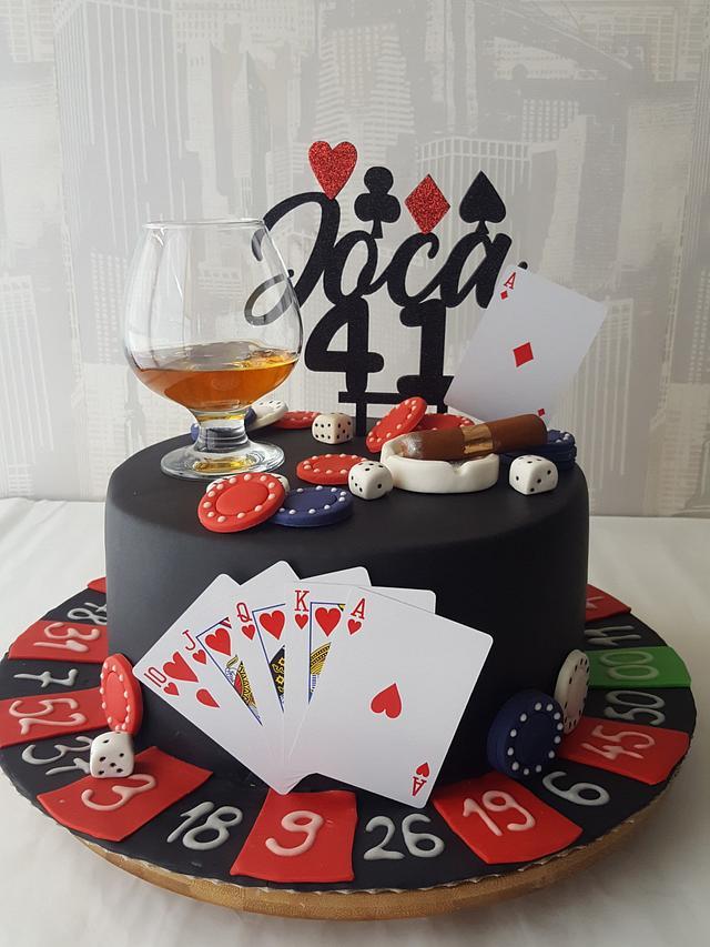 Remarkable Casino Cake Cake By Sanjin Slatki Svijet Cakesdecor Personalised Birthday Cards Arneslily Jamesorg