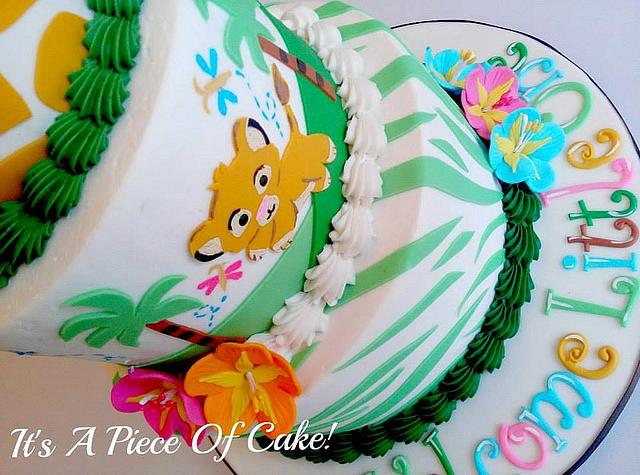 Stupendous Lion Cub Themed Baby Shower Cake Cake By Rebecca Cakesdecor Funny Birthday Cards Online Aboleapandamsfinfo