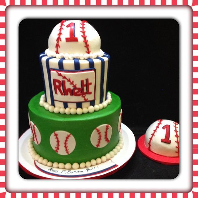 1st Birthday Baseball Cake