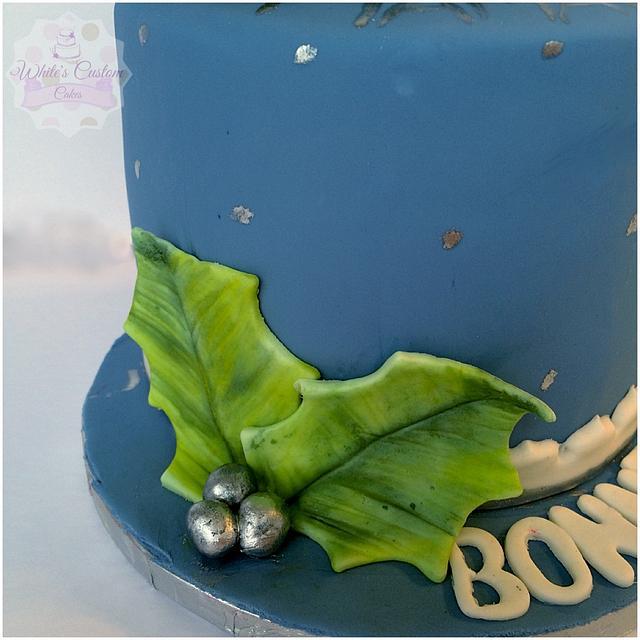 Poinsettia Birthday Cake