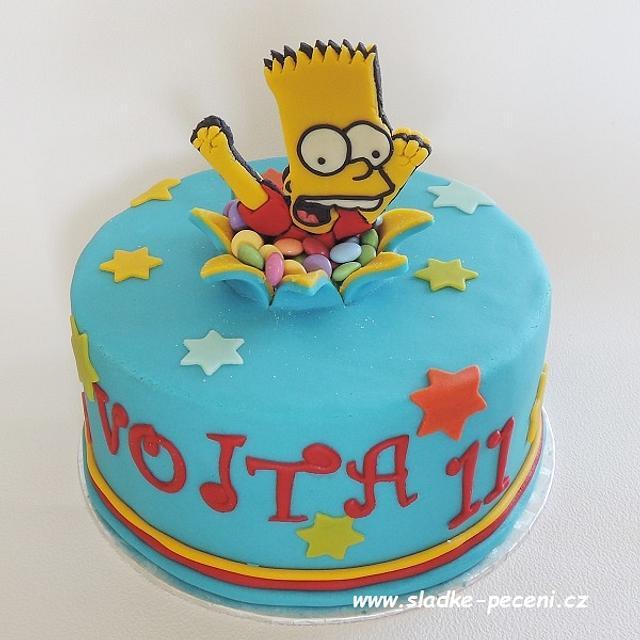 Groovy Bart Simpson Cake Cake By Zdenka Michnova Cakesdecor Personalised Birthday Cards Veneteletsinfo