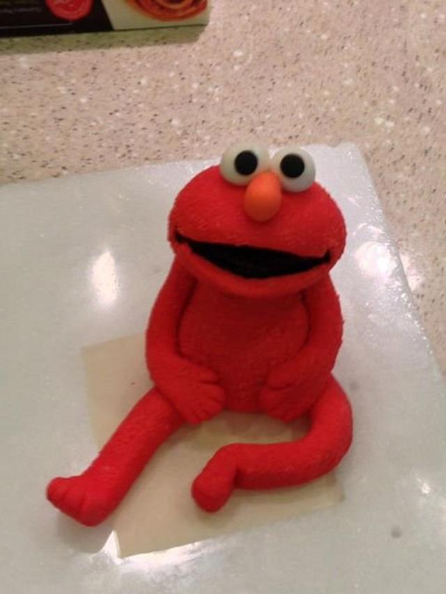 Elmo Cake Topper Cake By Loracakes Cakesdecor