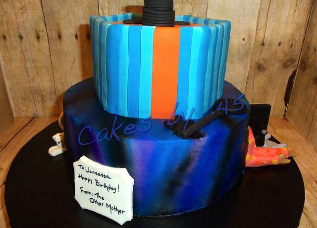 Tremendous Coraline Theme Birthday Cake Cake By Cakes By 45 Cakesdecor Funny Birthday Cards Online Inifodamsfinfo