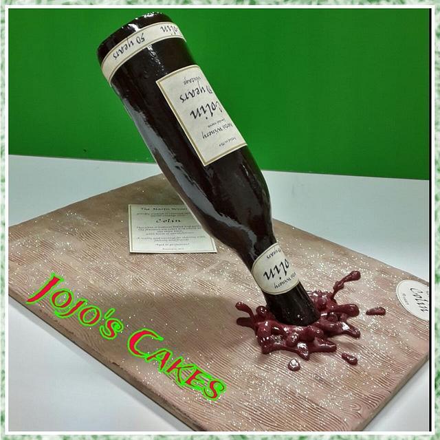 Vintage Wine bottle Cake!
