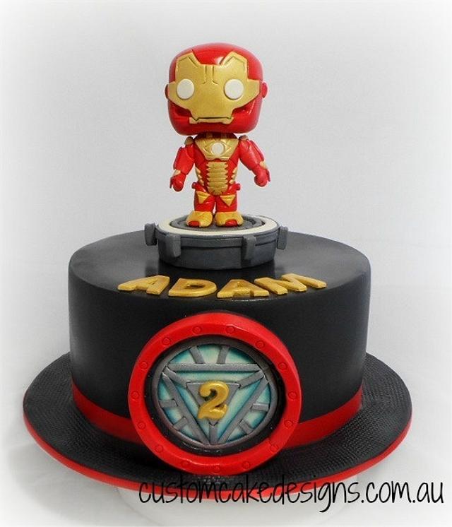 Iron Man Pop Vinyl / Bobblehead Cake