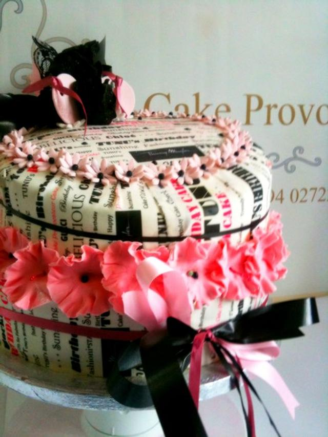 30th Birthday Cake by Cake Provocateur
