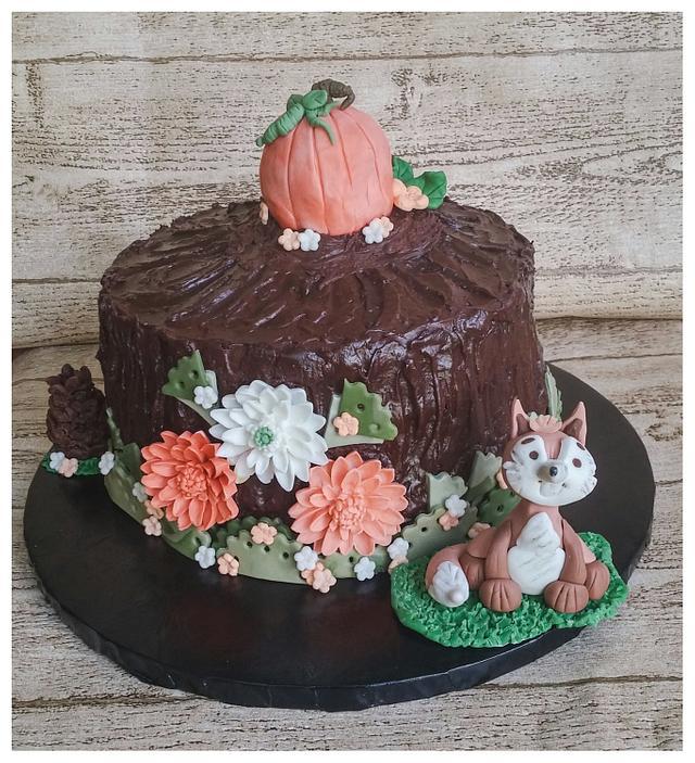 Thanksgiving Woodland Cake