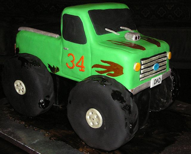 Green monster truck