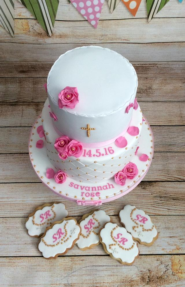 Not So Simple Communion Cake (and cookies) 😄