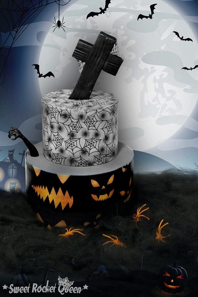 Awe Inspiring Scary Halloween Cake By Sweet Rocket Queen Simona Cakesdecor Personalised Birthday Cards Epsylily Jamesorg