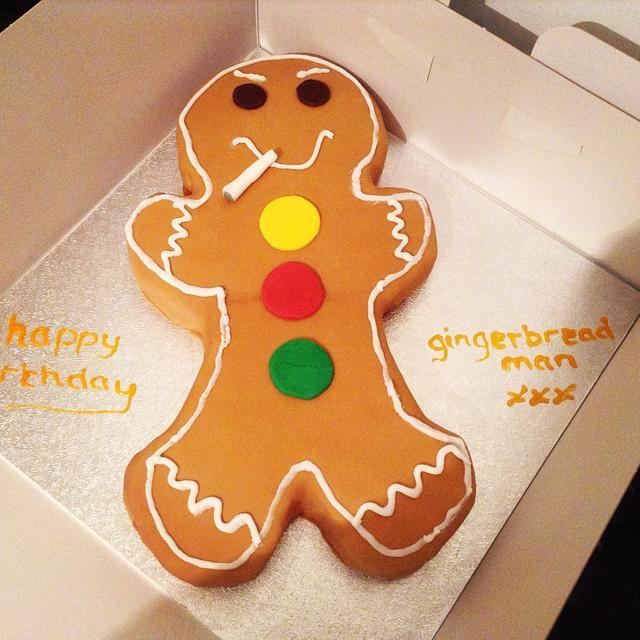 Shhmoking gingerbread man