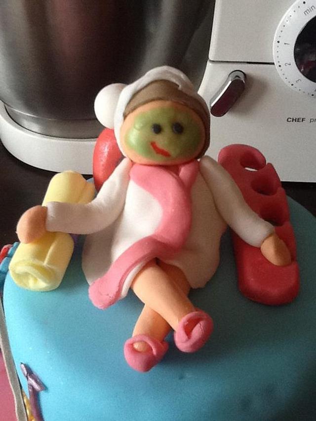 Spa/makeover cake