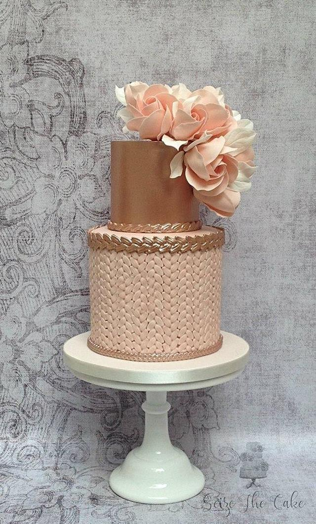 Swell Blush And Rose Gold Birthday Cake Cake By Seize The Cakesdecor Funny Birthday Cards Online Alyptdamsfinfo