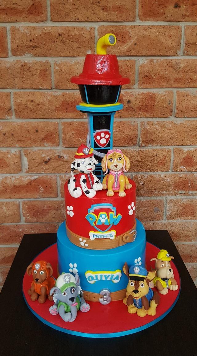 paw patrol cake  cakethe custom piece of cake