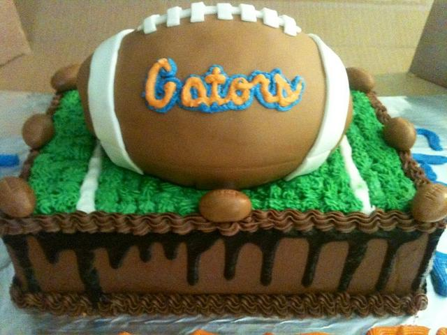Astounding Florida Gators Groom Cake Cake By Sweet Ts Cakes Cakesdecor Personalised Birthday Cards Veneteletsinfo