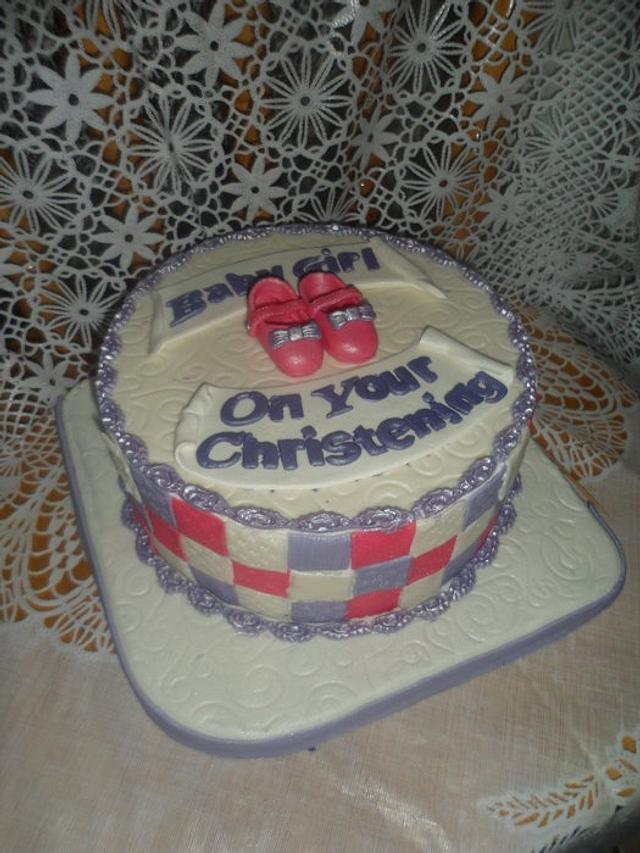 Girls' Christening/ Baptism Cake