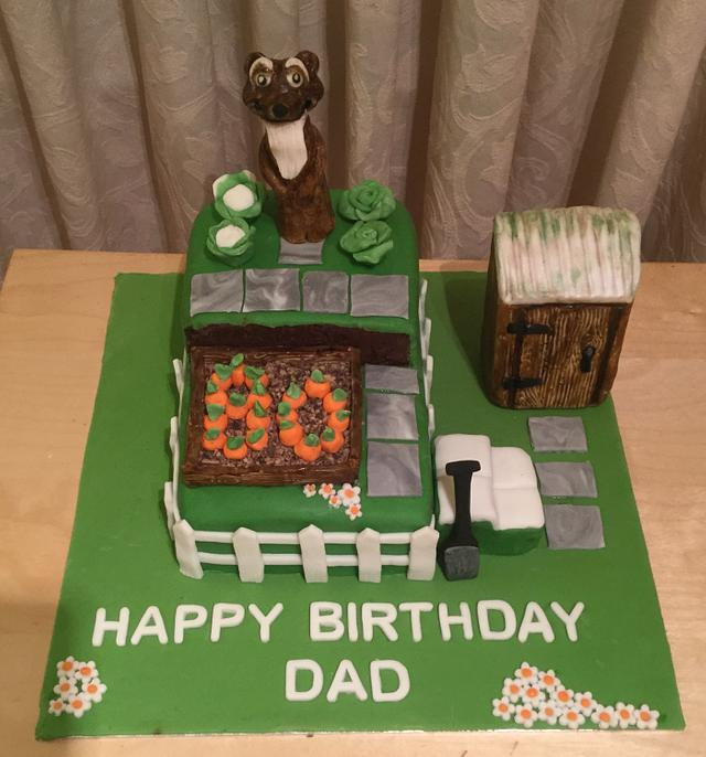 S.O.S Allotment 80th Birthday Cake !