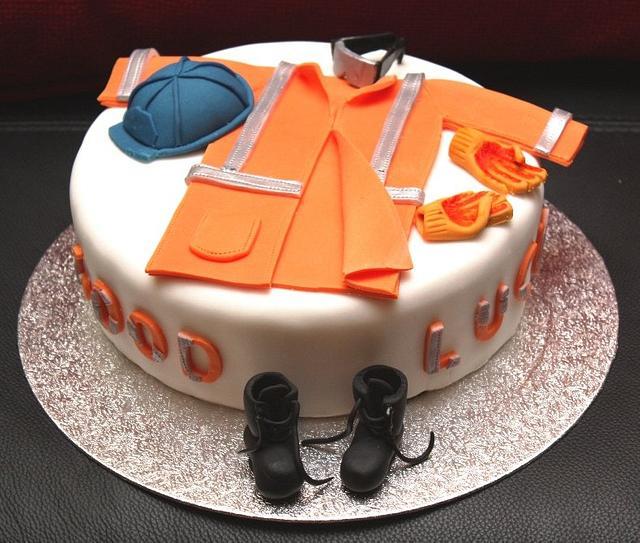 PPE (Construction Worker's Uniform) Cake