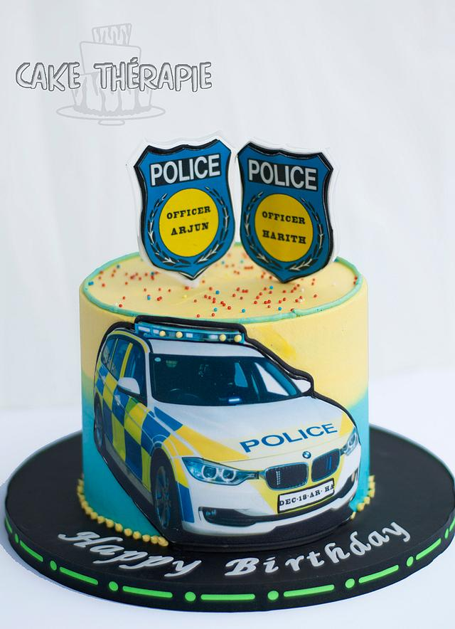 Enjoyable Police Themed Birthday Cake Cake By Caketherapie Cakesdecor Funny Birthday Cards Online Alyptdamsfinfo