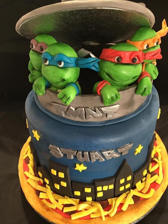 Fine Tmnt Birthday Cake Cake By The Cake Artist Mk Cakesdecor Personalised Birthday Cards Paralily Jamesorg