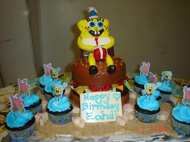 Spongebob On a Crabby Patty