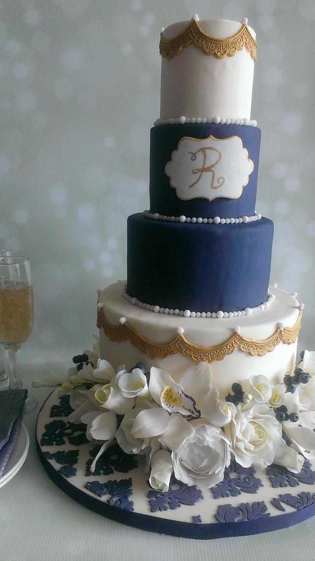 Royal Blue & Ivory