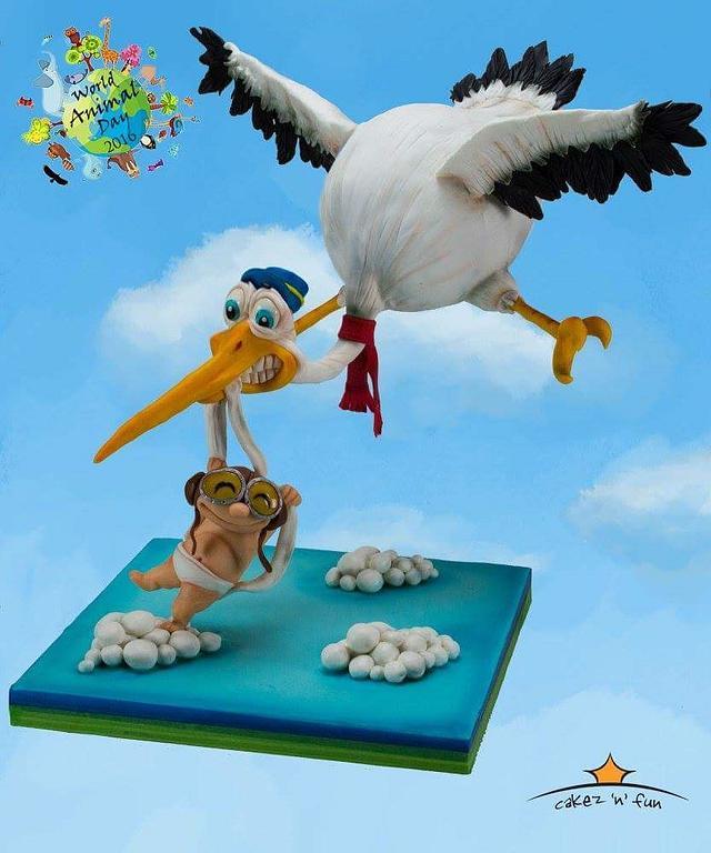 Stork - Delivering the package
