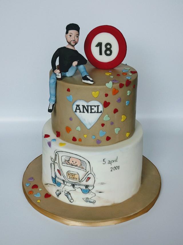 Cool 18 Years Cake By Olina Wolfs Cakesdecor Funny Birthday Cards Online Unhofree Goldxyz