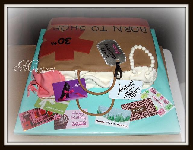 Shop-A-Holic Birthday Cake