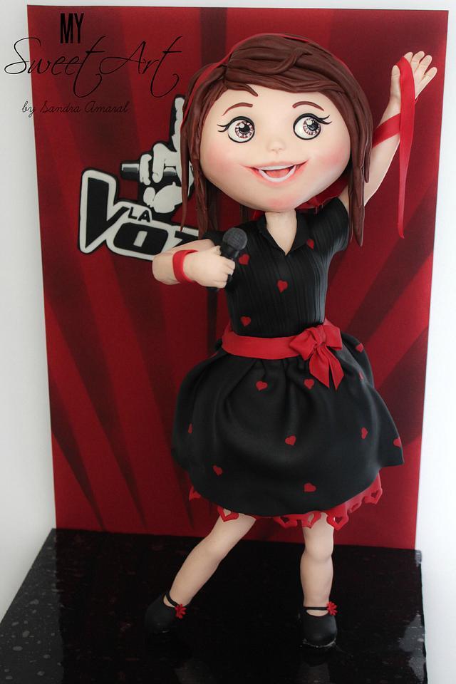 Singing girl Cake