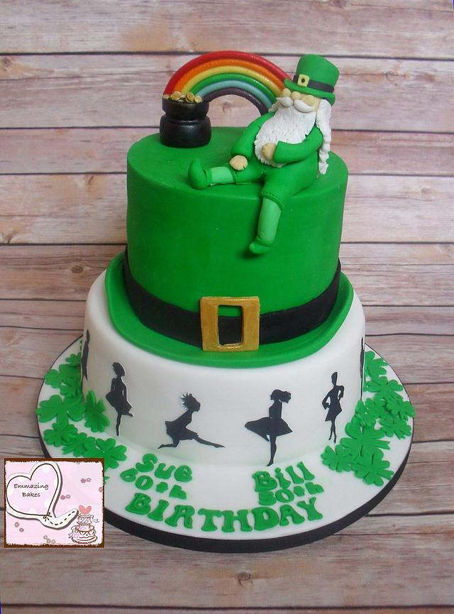 Surprising Irish Themed Cake Cake By Emmazing Bakes Cakesdecor Personalised Birthday Cards Veneteletsinfo