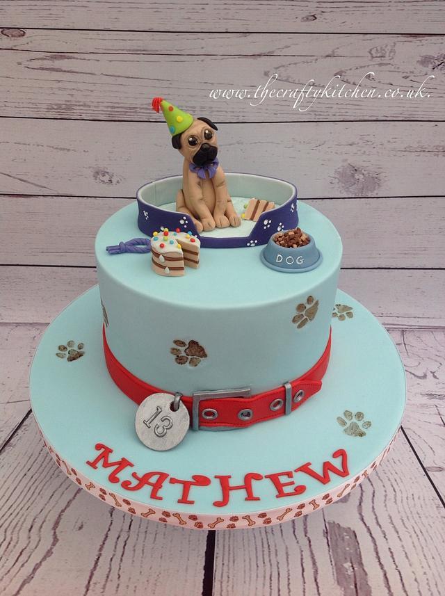 Brilliant Pug Birthday Cake Cake By The Crafty Kitchen Sarah Cakesdecor Funny Birthday Cards Online Bapapcheapnameinfo