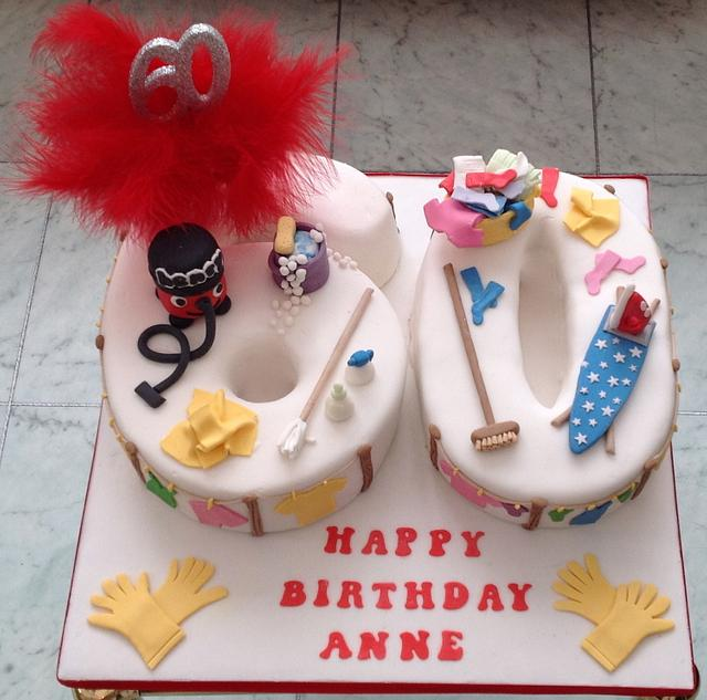 60th Birthday cake for a cleaning fanatic