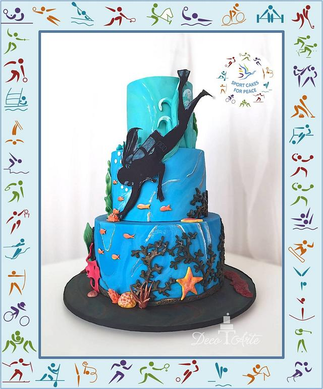 Snorkeling cake - Sport Cake for Peace Collaboration