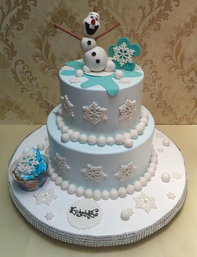 Wondrous Olaf Birthday Cake Cake By Michelles Sweet Temptation Cakesdecor Funny Birthday Cards Online Alyptdamsfinfo