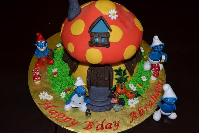 Smurfs Mushroom Cake